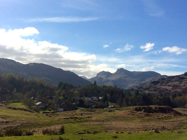 A view of the iconic Langdale fells on our short journey today. These fells can also be seen from our windows at Blenheim Lodge.